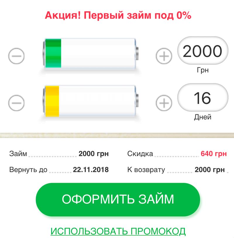 Кредитный калькулятор Быстрозайма